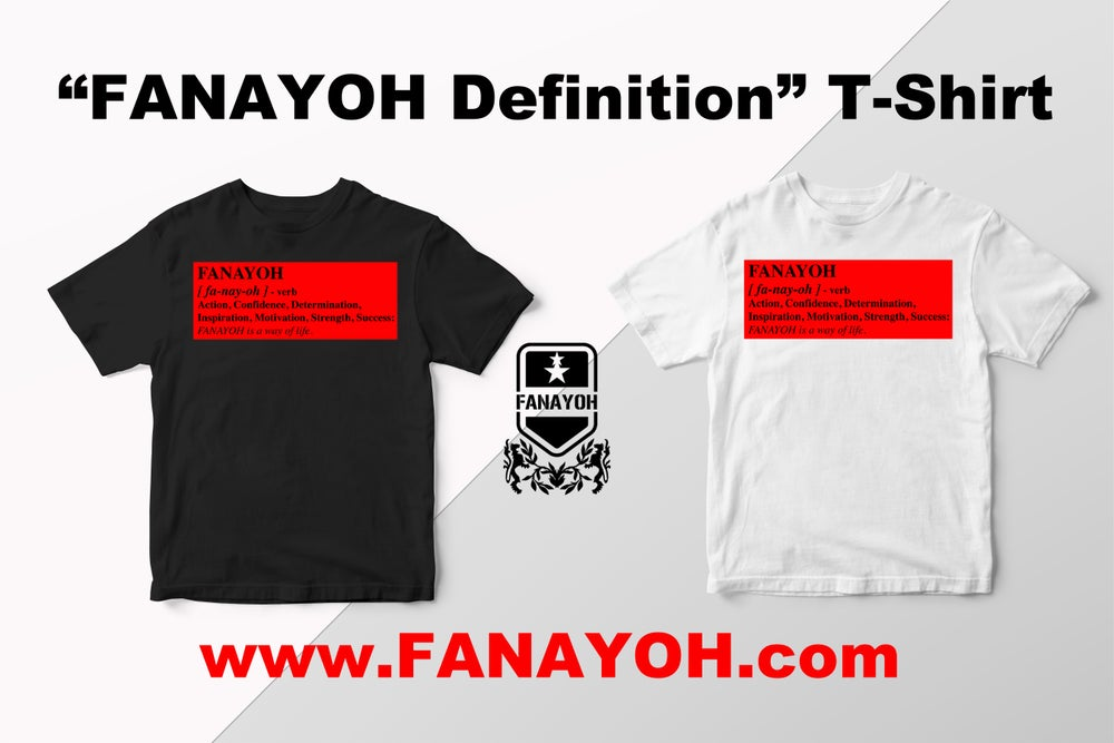 "Image of Custom ""Box Definition of FANAYOH"" (Red Box/Black Print)"