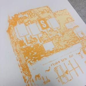 "Image of WUST Radio Music Hall Silk Screened Art Print - 11"" x 14"""