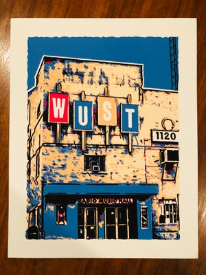 Image of WUST Radio Music Hall - Silk Screened Art Print