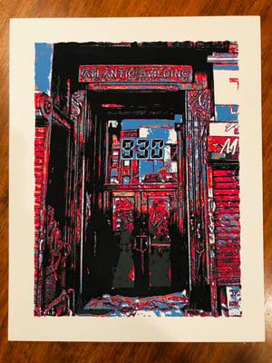 Image of Nightclub 9:30 Doorway - Silk Screened Art Print