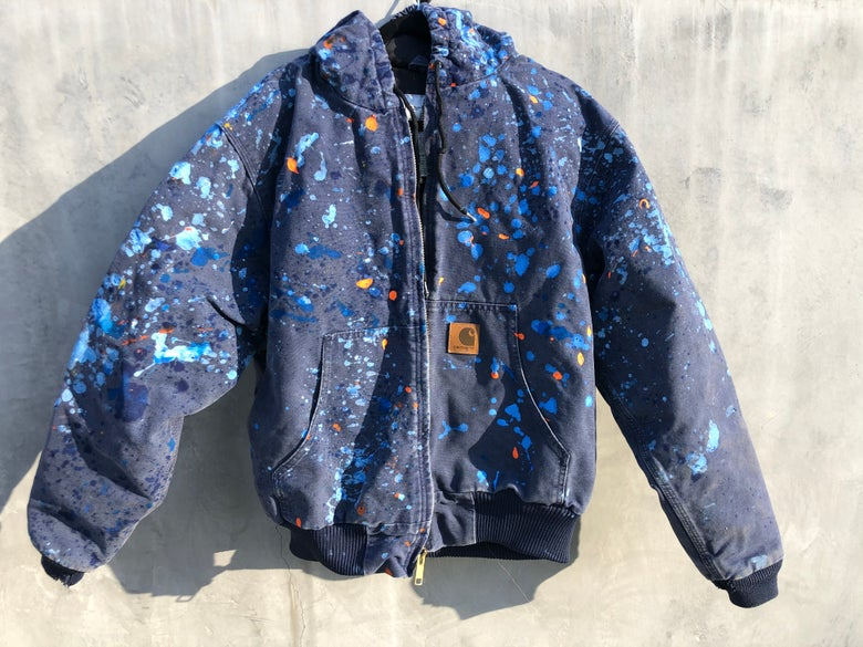 Image of Large Navy blue Carhartt jacket #2