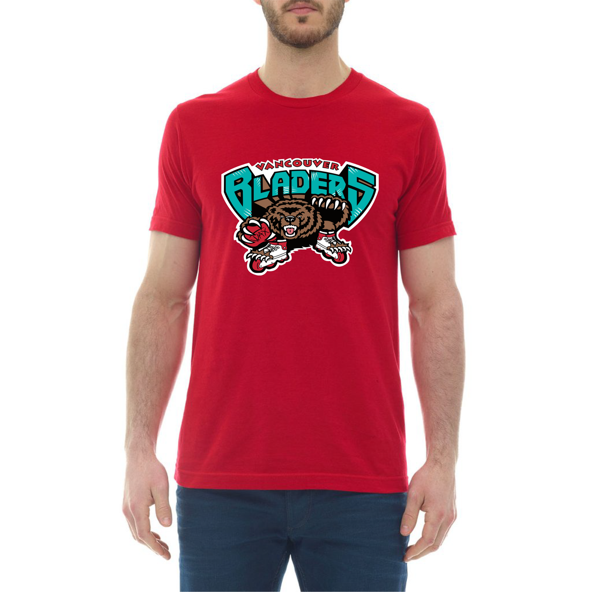 Image of Vancouver Bladers T-Shirt - Railtown Red