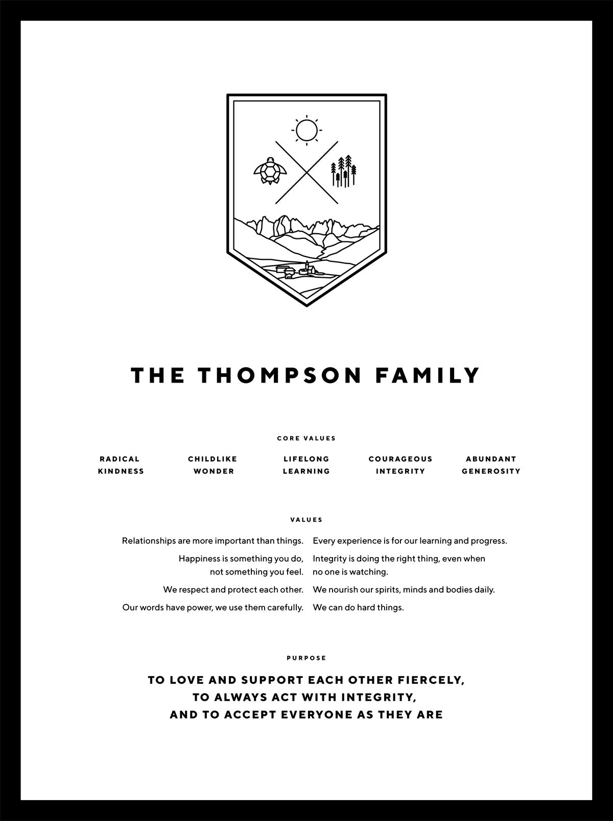 Image of Family Crest and Purpose Design