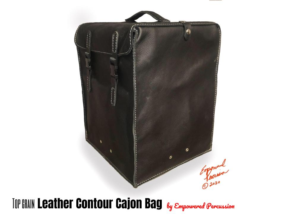 Image of Leather & wax canvas cajon bags