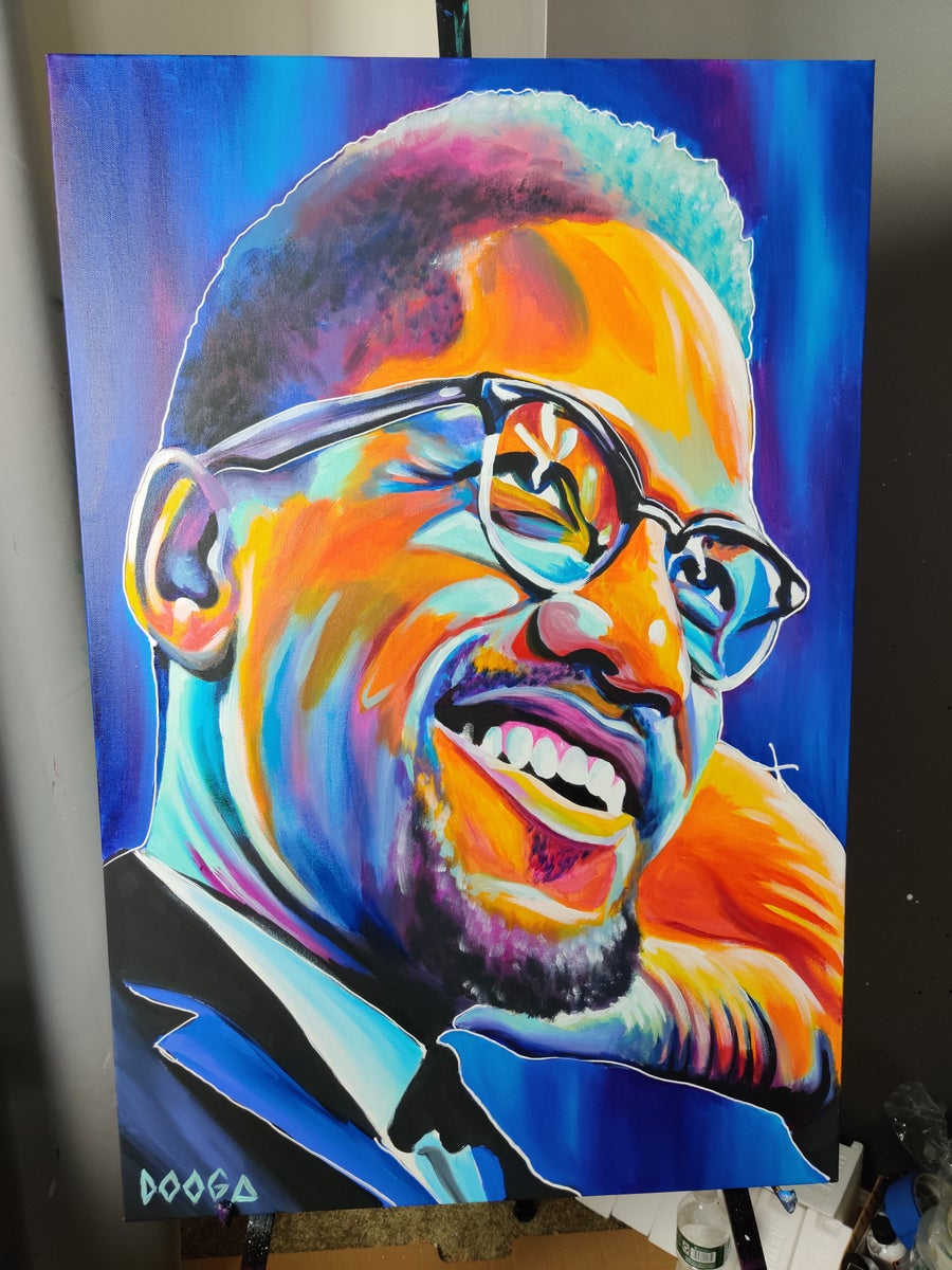 Image of Malcolm X - Canvas Print