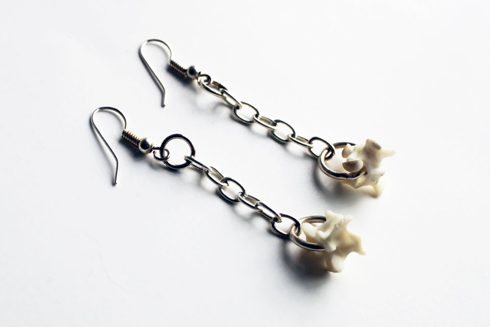 Image of Snake Vertebrae Earrings