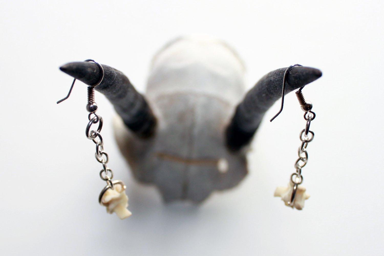Image of Snake Vertebrae Earrings