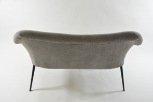 Image of Banquette coquille gris noir