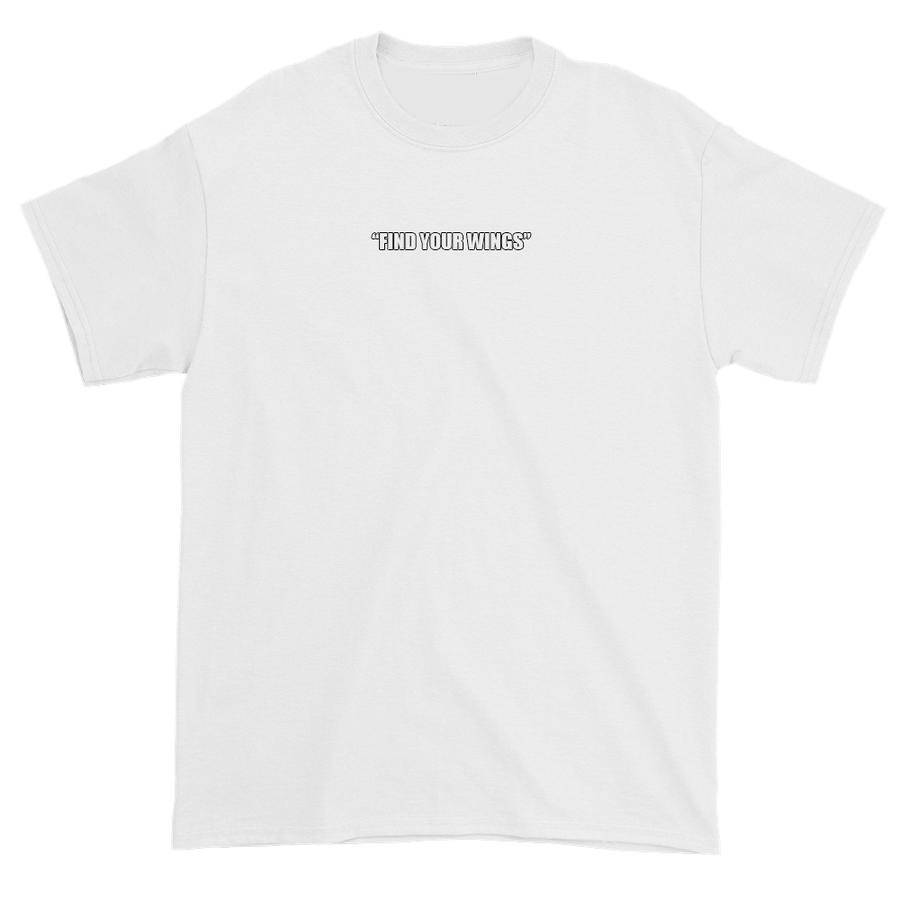 Image of WHITE SLOGAN OUTLINE TEE