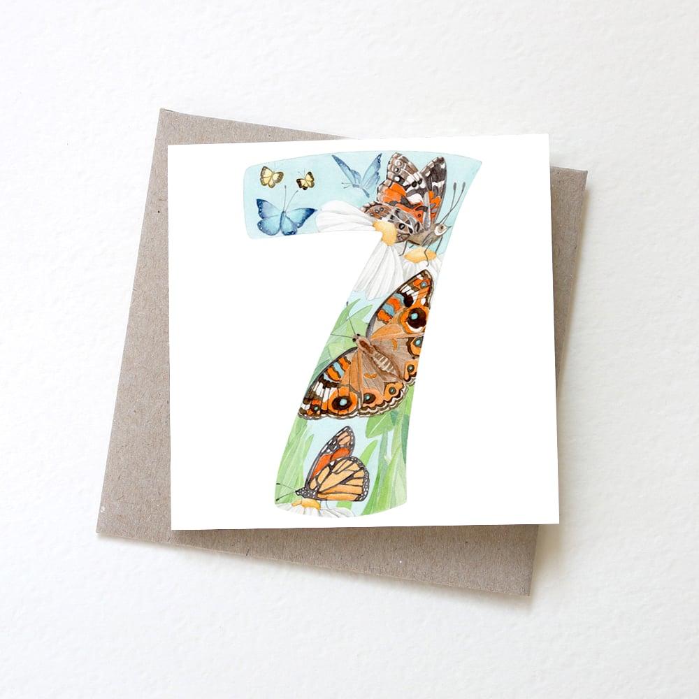 Image of Number Seven Butterflies