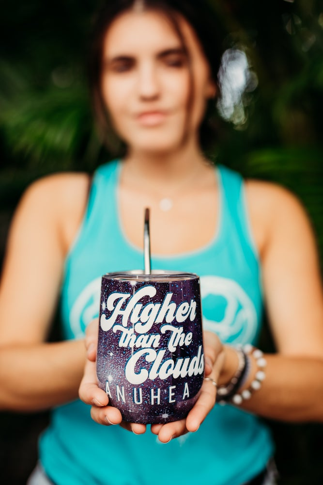 Image of Higher Than the Clouds Wine Tumbler