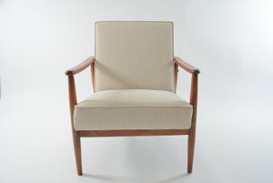 Image of Fauteuil beige chiné
