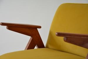 Image of Fauteuil BUNNY jaune et oiseaux