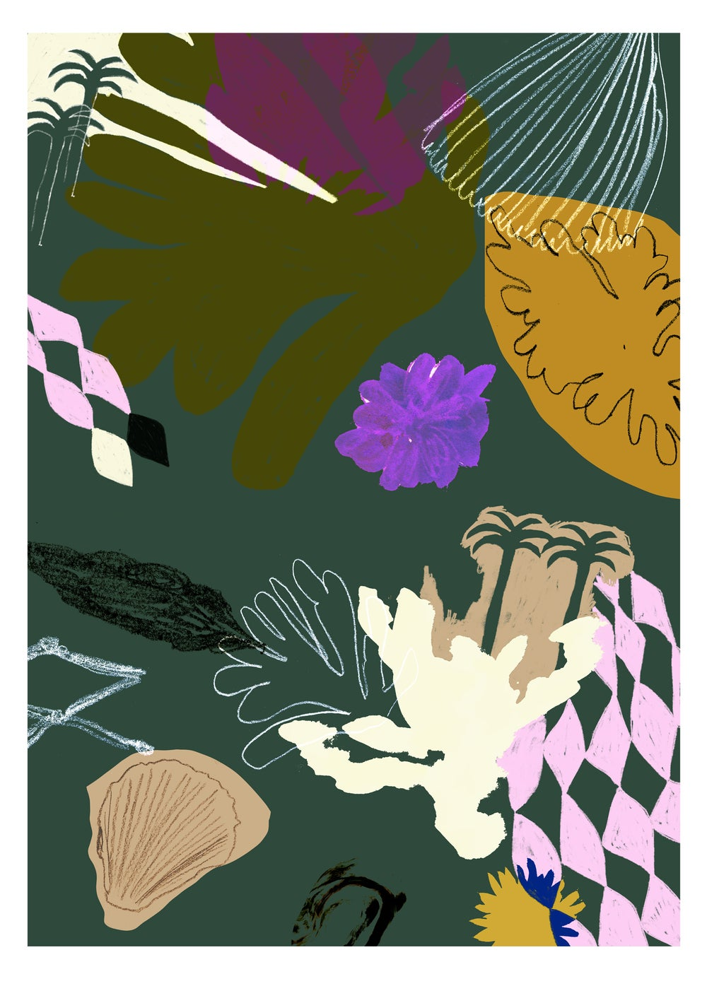 Image of Beach Fragments A2 giclee print