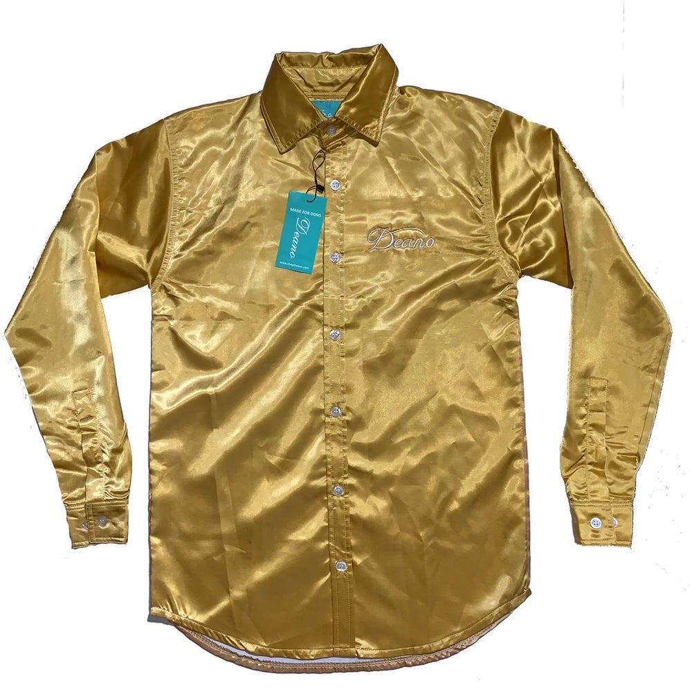 Image of Gold Champagne Satin Shirt