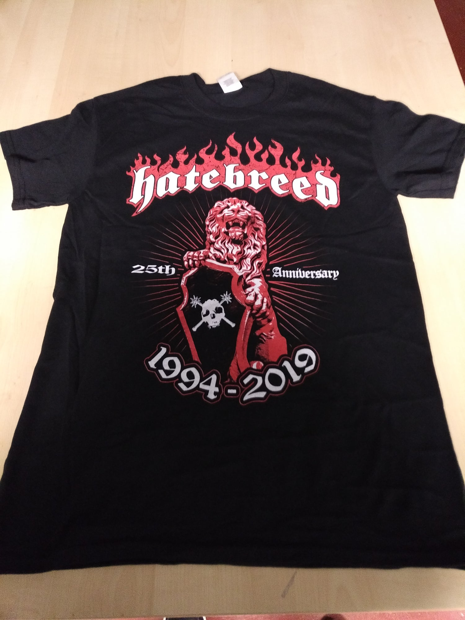 Image of HATEBREED 2019 25TH ANNIVERSARY TOUR SHIRT - SIZE SMALL ONLY