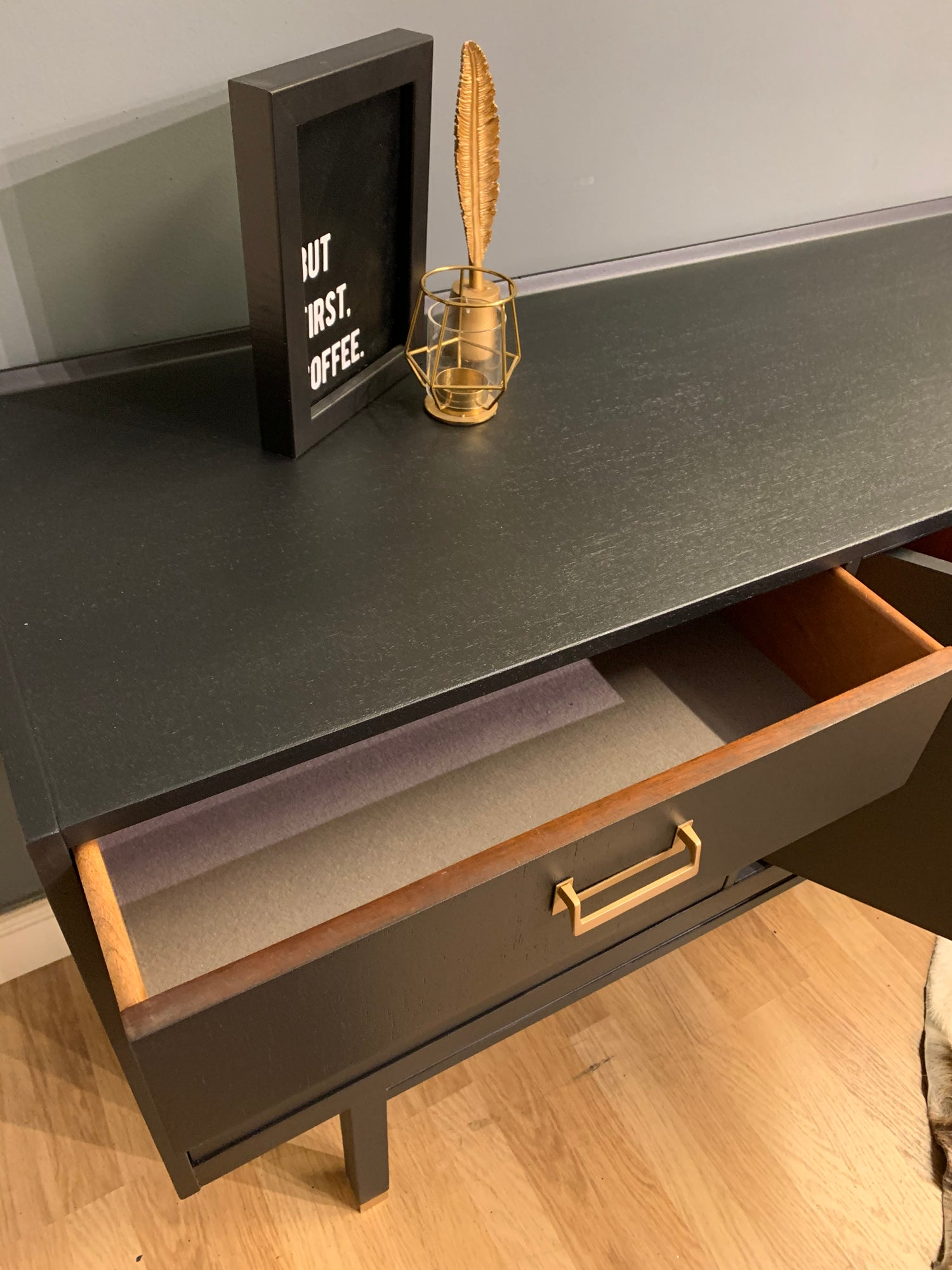 Image of 7ft Black G plan sideboard