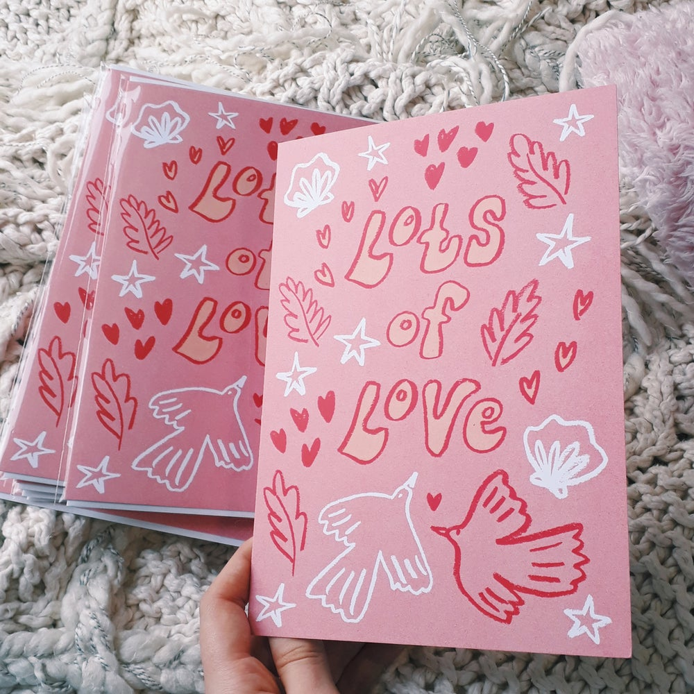 Image of Lots of Love Greetings Card