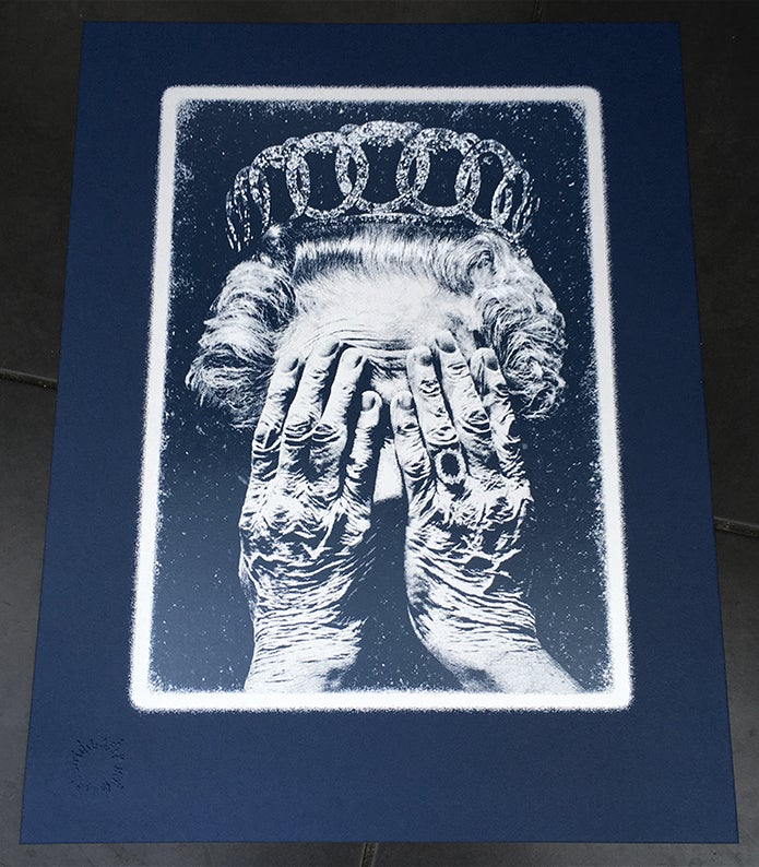 Image of CRUEL BRITANNIA - SILVER•BLUE EDITION - 2 prints remaining