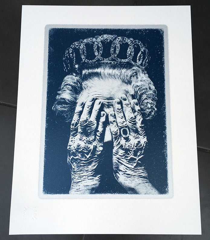 Image of CRUEL BRITANNIA -  WHITE•SILVER•BLUE EDITION - 3 prints remaining