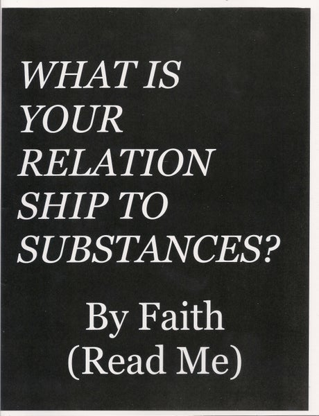 Image of What Is Your Relationship To Substances?