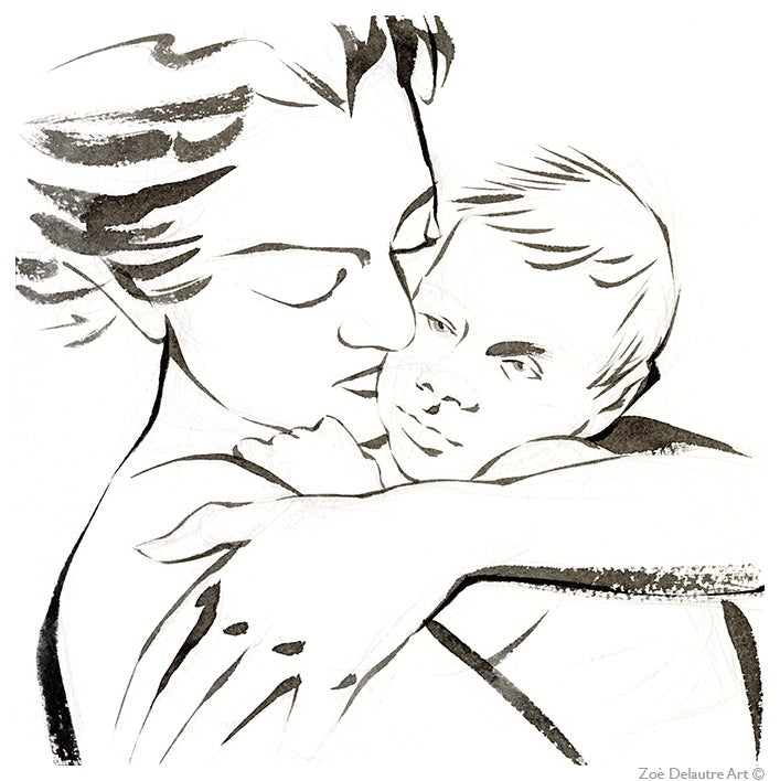 Image of A mother with child