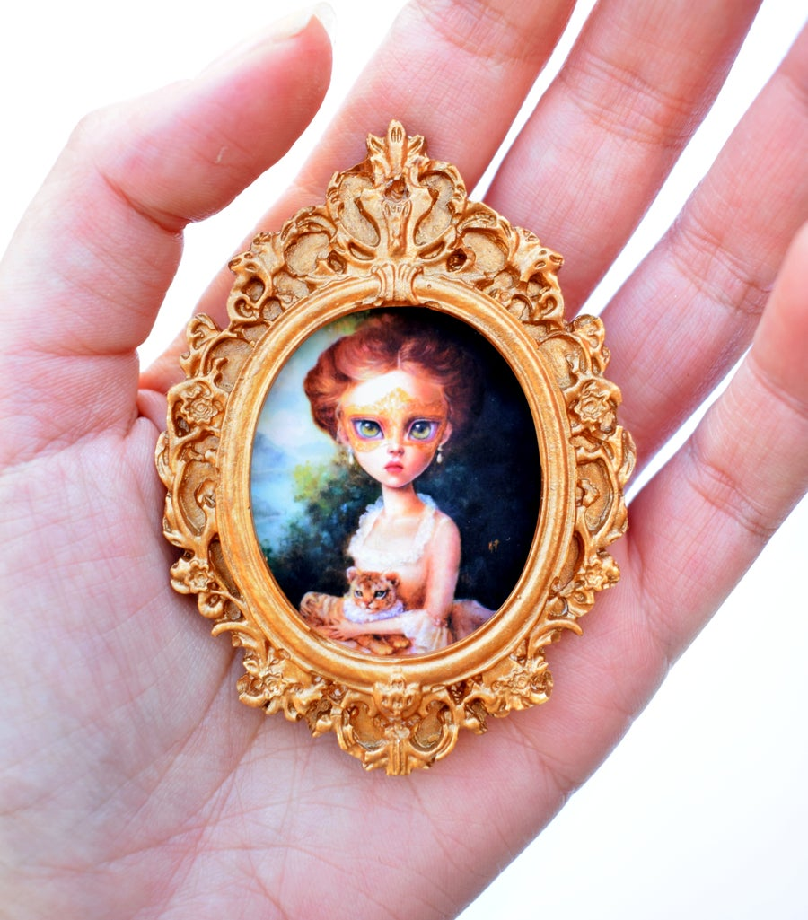 """Image of """"The Masquerade"""" Miniature framed print"""