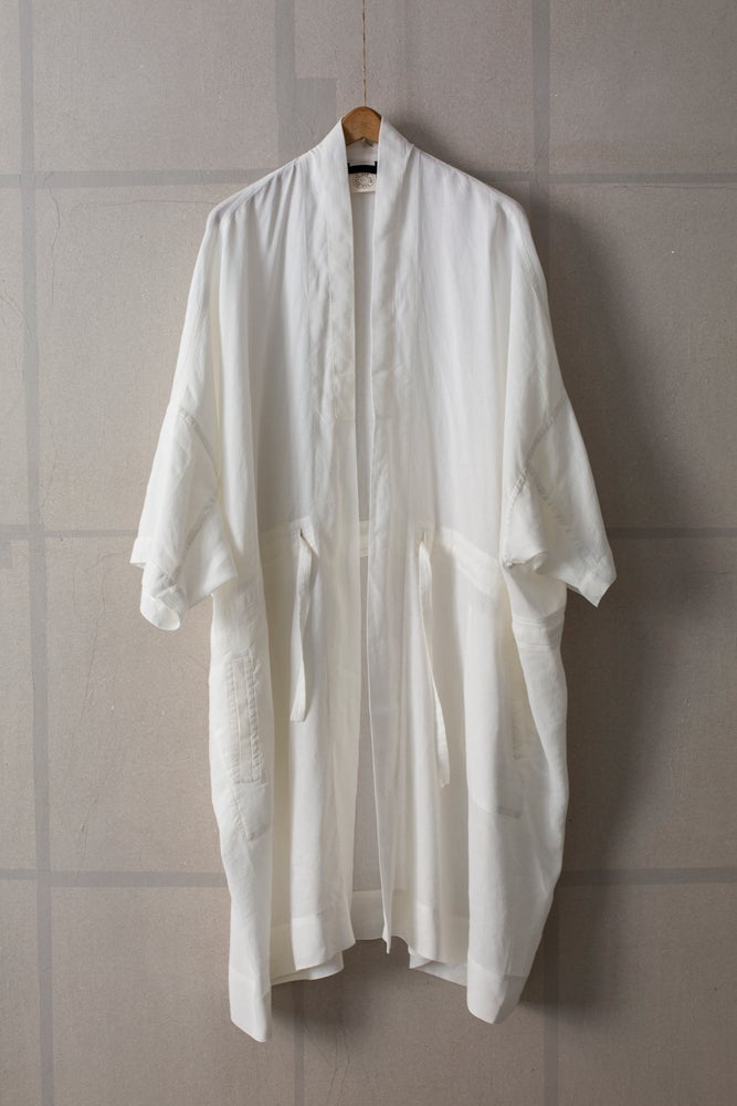 Image of KIMONO#6 - OFF WHITE FINE MESH by Jan-Jan Van Essche