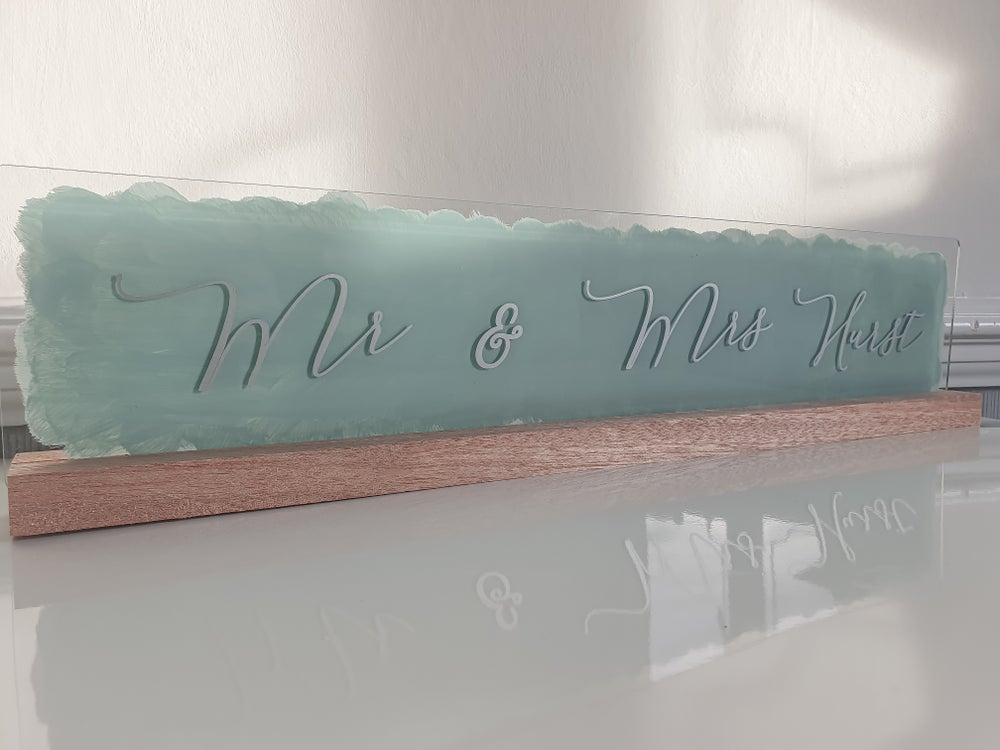 Image of Top Table Mr & Mrs Sign