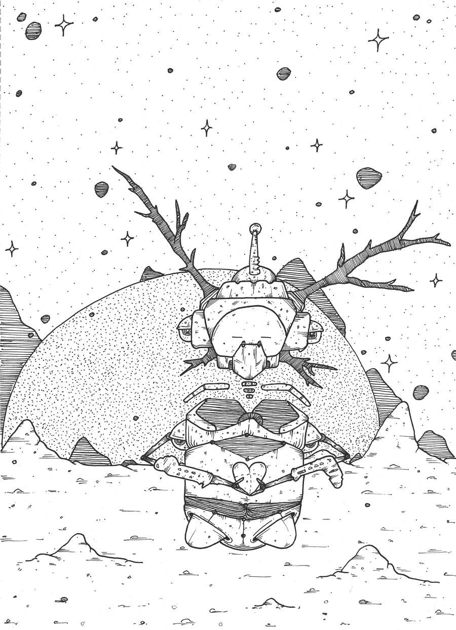 Image of Nukes - Ink Pen On Paper