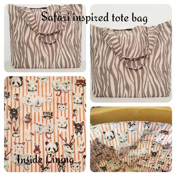 Image of Safari Inspired Tote Bag