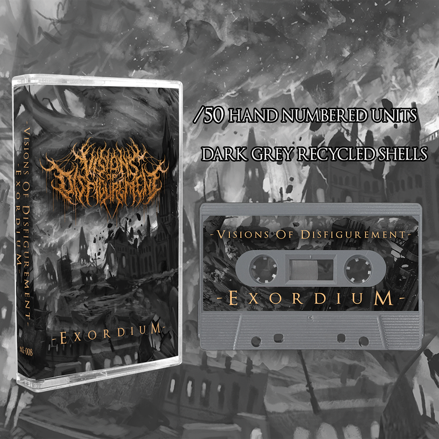 Image of **50% OFF** Visions Of Disfigurement - Exordium EP - /50 Hand Numbered Cassette