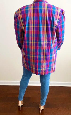 Image of Vintage Bold Plaid Blazer - M/L