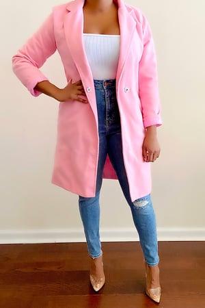 Image of Vintage Vibrant Pink Spring Coat - M