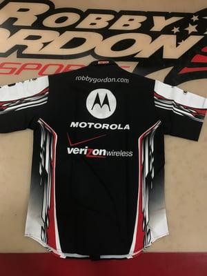 Image of 2007 Robby Gordon Motorola / Verizon NASCAR Crew Shirt - NEW