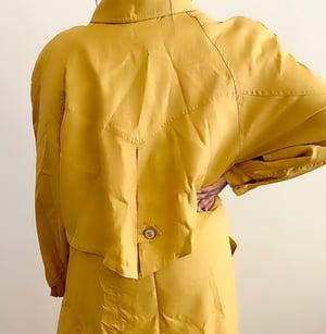 Image of Vintage Bold Mustard Spring Coat - L