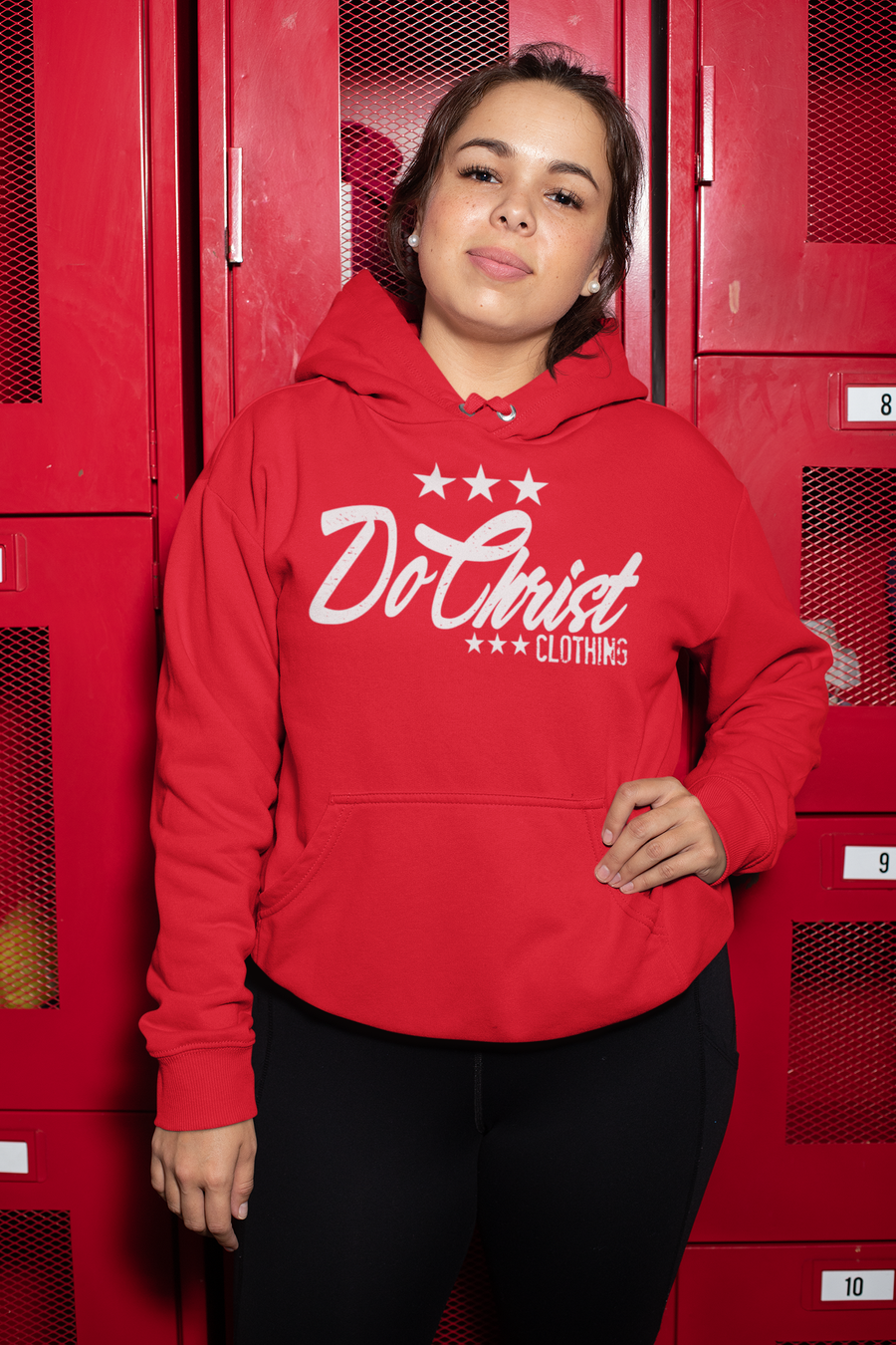 Image of Do Christ Star Hoodie (Red)