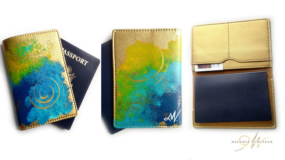 Image of Gold Passport Covers