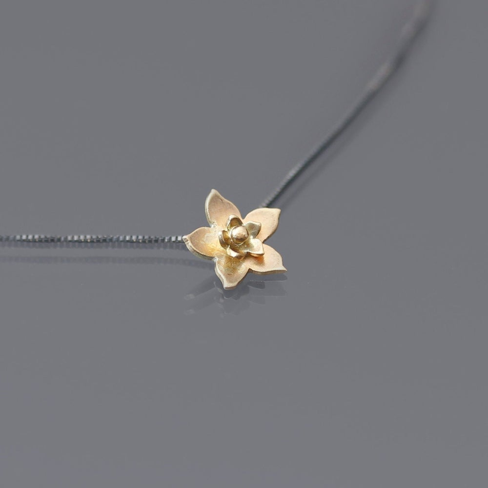 Image of 14k Gold and Sterling Silver Blossom Necklace