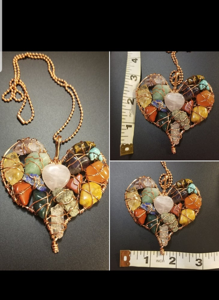 Image of Heart crystal cluster (made to order)