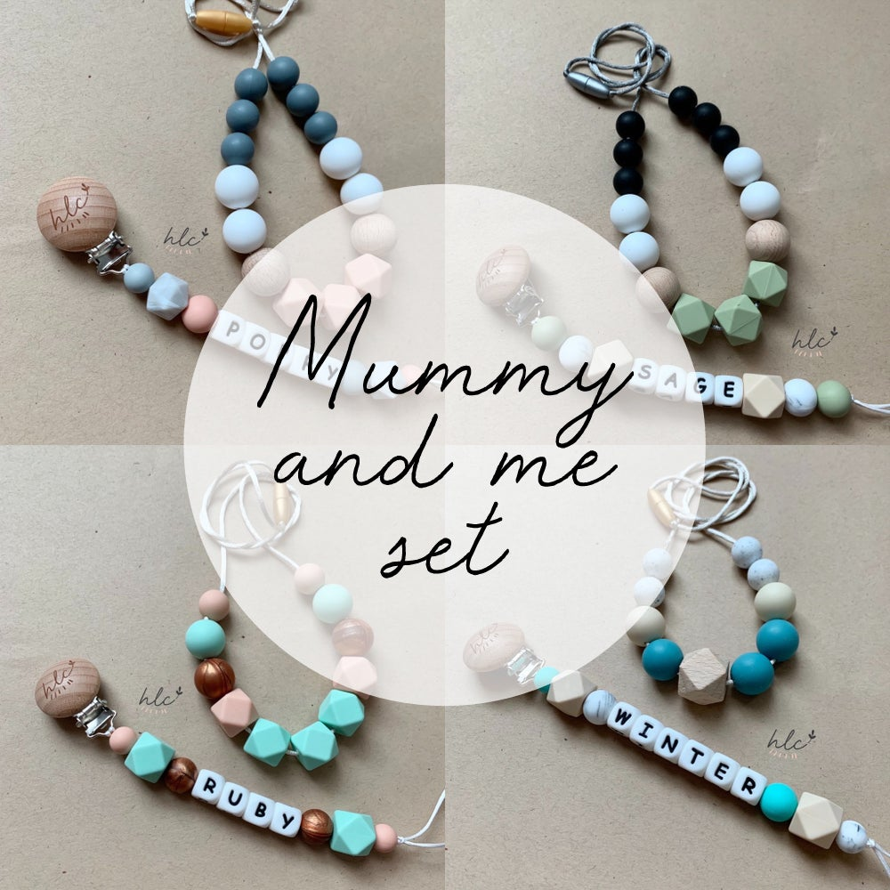 Image of MUMMY & ME: Custom Name Clip + Necklace Set