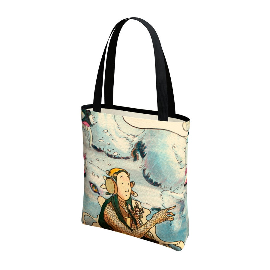 Image of Lomy at the Listening Station - Tote Bag - Limited Time!