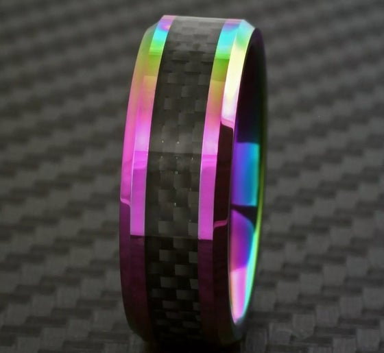 Image of Men's Carbon Fiber Neo Chrome Ring