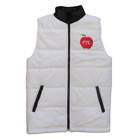 Image of Big Apple Puffer Vest (White)