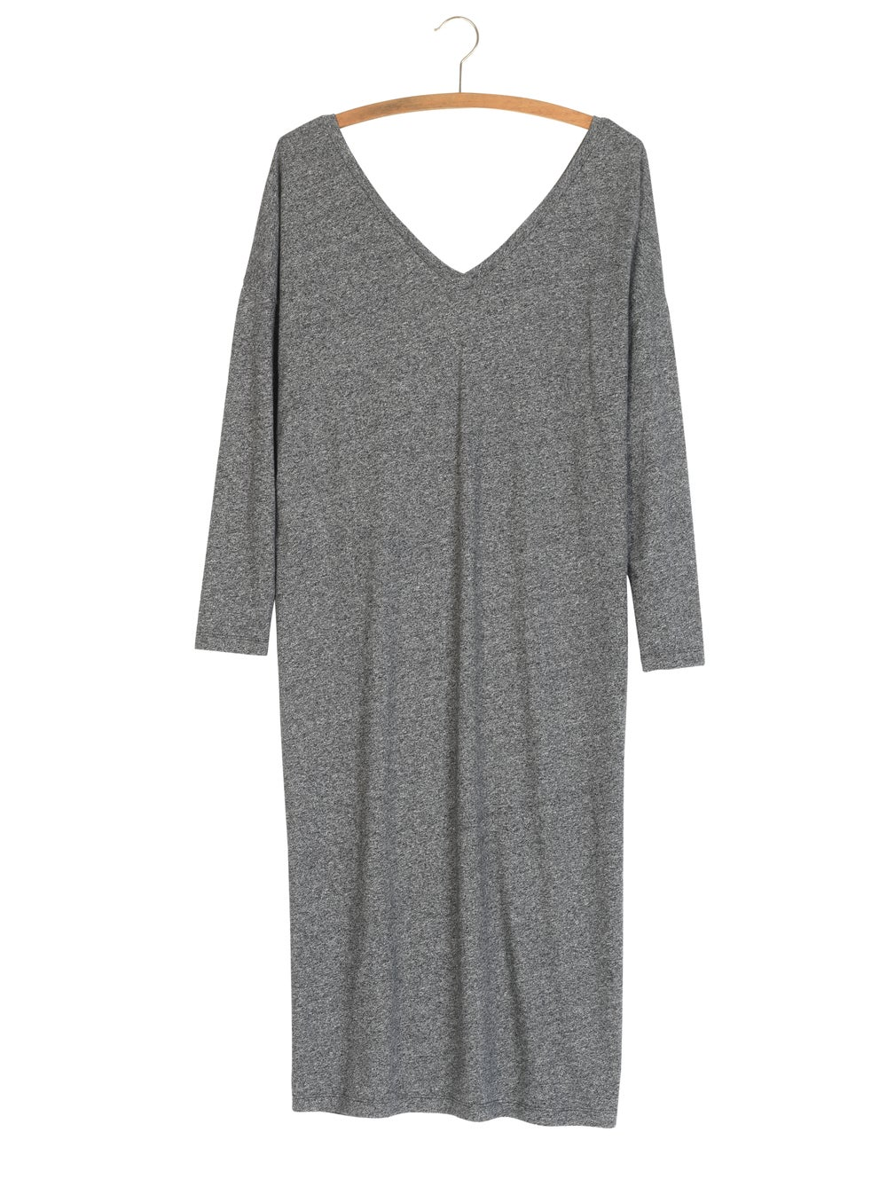 Image of Robe mi-longue jersey chiné EMELINE 90€ -60%