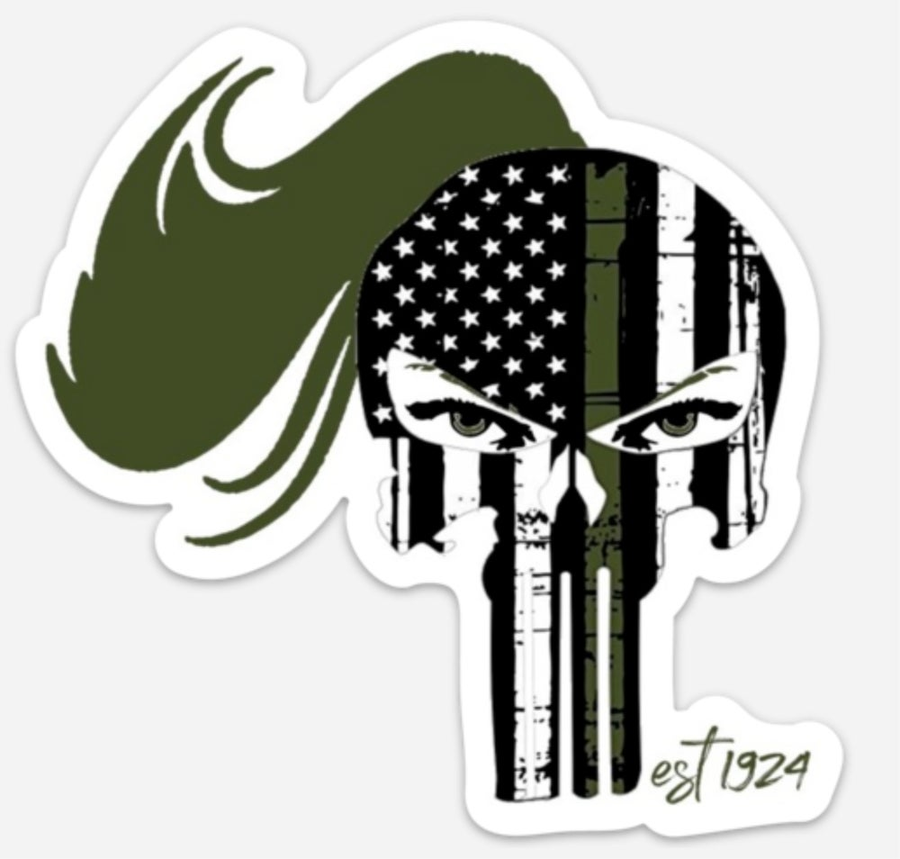 Image of GREEN LINE LADY WARRIOR DECAL (40% OFF)