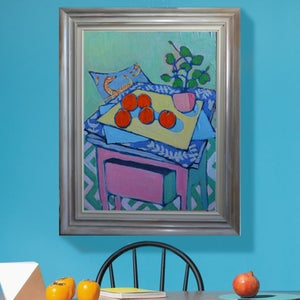 Image of Contemporary Painting, 'Zebras and Oranges,' Poppy Ellis