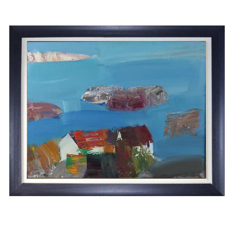 Image of 1960's Oil Painting, 'Bohuskus.' LARS BERTLE