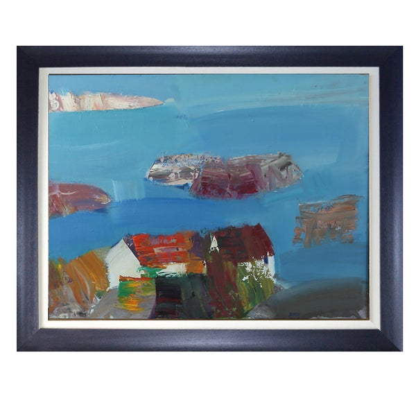 Image of 1960's Oil Painting, 'Bohuskus.' LARS BERTLE