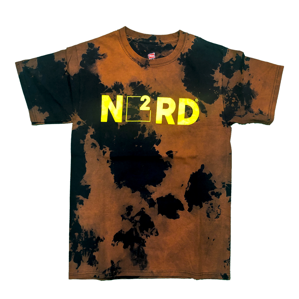 Image of Acid Wash Nerd Square T-Shirt